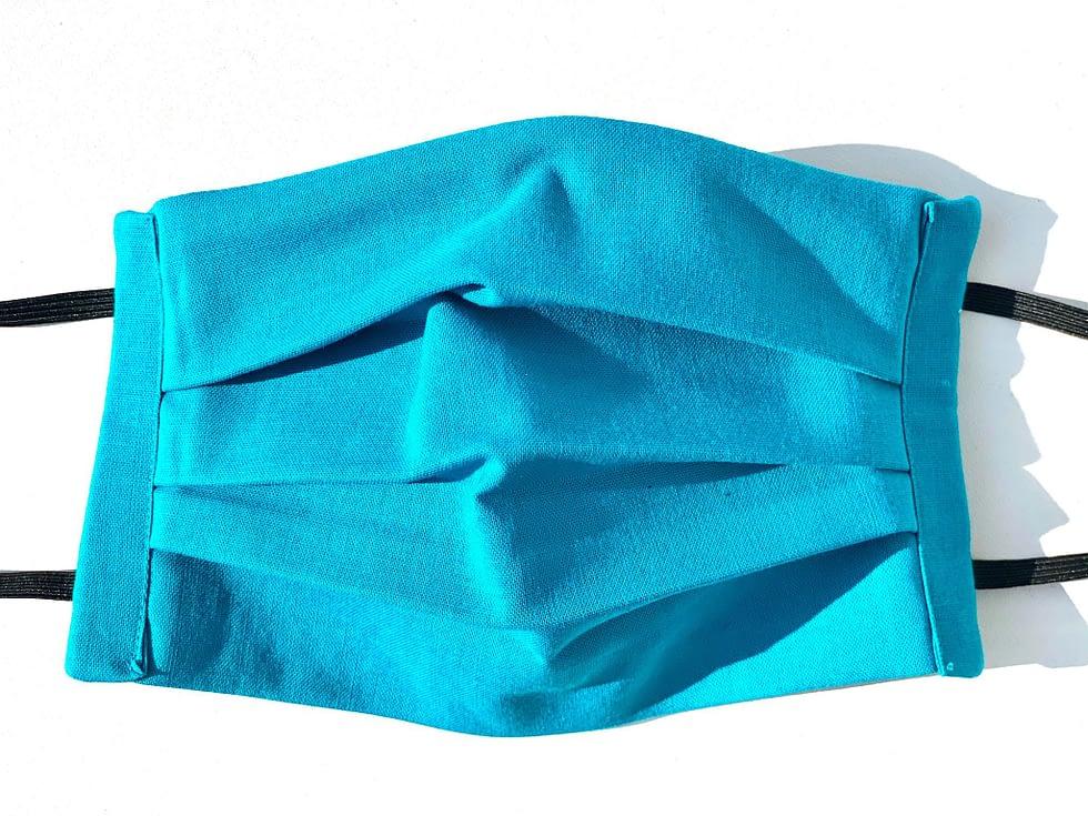 Turquoise Mask Closeup