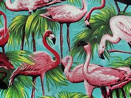 Flamingoes Turquoise