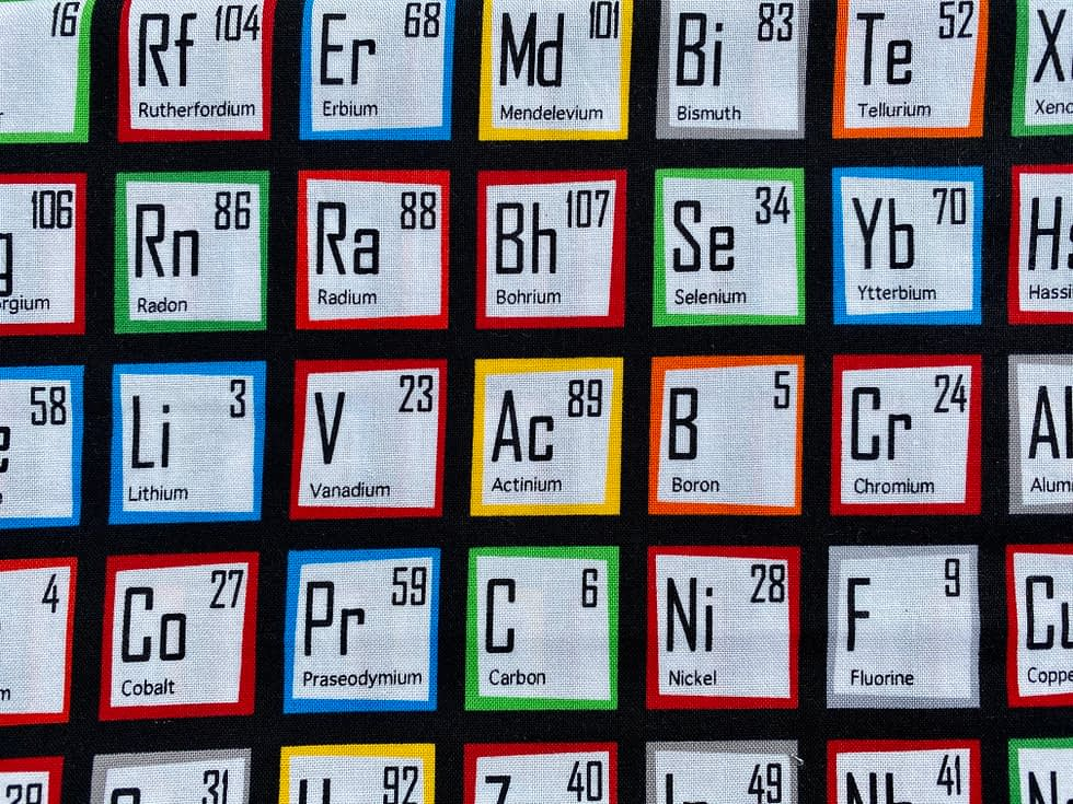 Periodic Table Fabric