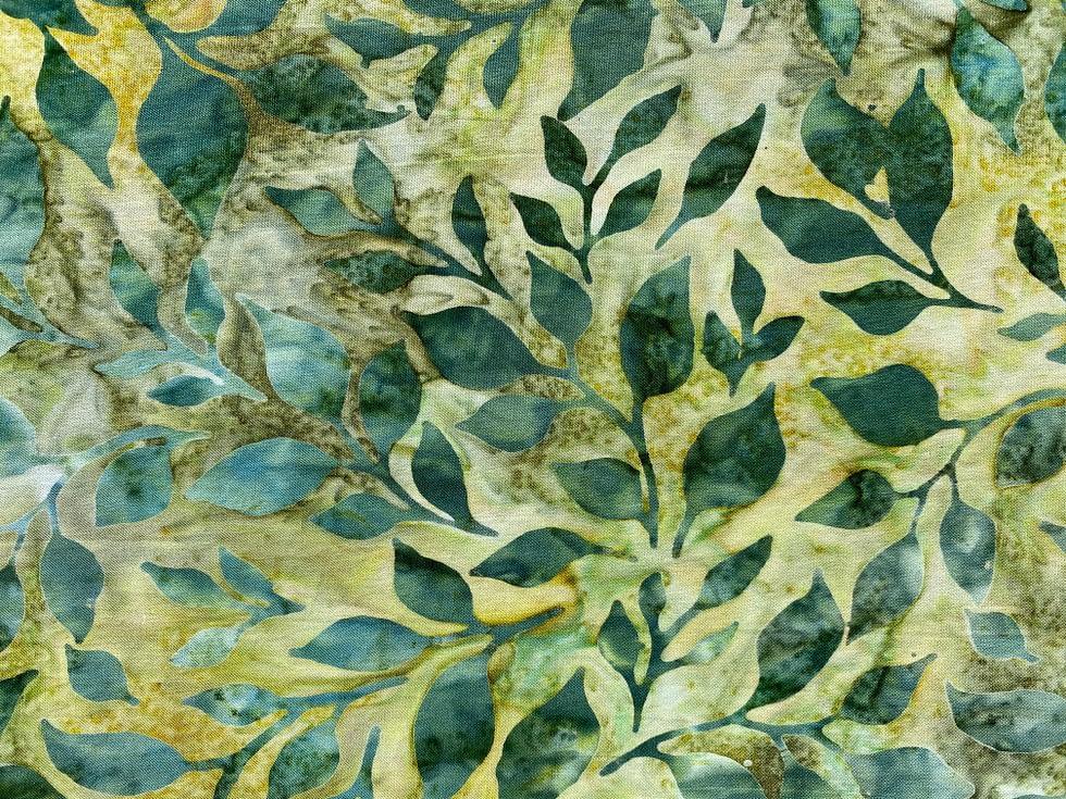 Batik Leaves Fabric