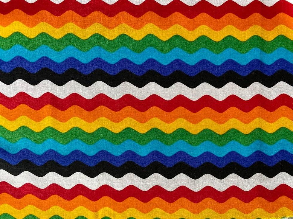 Rainbow Ric Rac Fabric