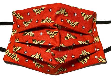 Red fabric with Wonder Woman logo
