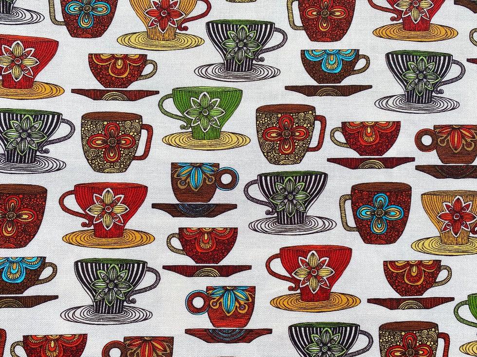 Teacups Fabric
