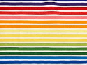 Rainbow coloured striped fabric