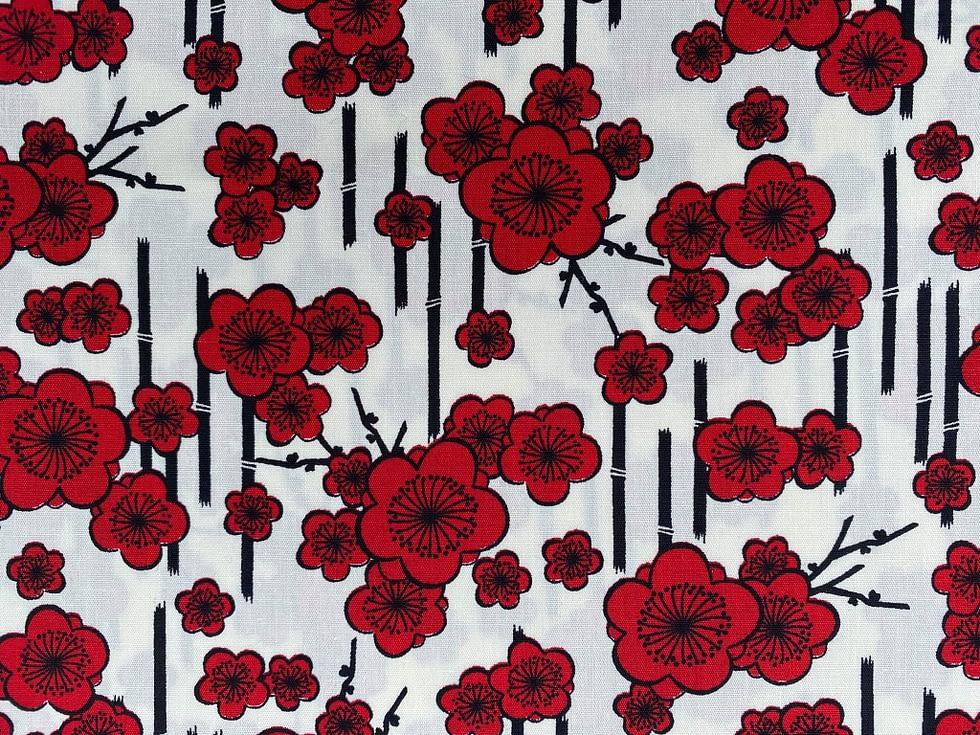 Bamboo Poppy Fabric